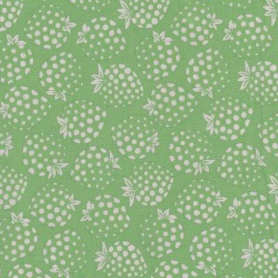 Lecien Old New Fabric groen met aardbei