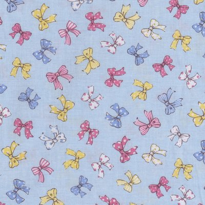 Lecien Old New Fabric blauw met strikjes
