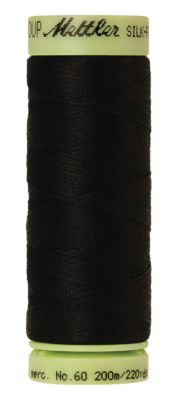 Mettler Silk Finish Cotton 60, 4000 zwart