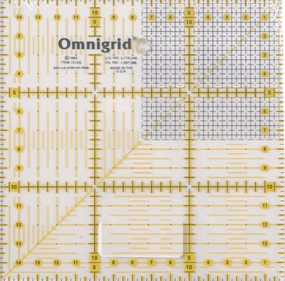 Omnigrid universele liniaal 15 x 15 cm