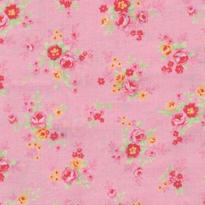 Lecien Antique Flower Collection in Pastel roze klein roosje