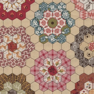 Andover Mailing Road Di Ford hexagon patchwork