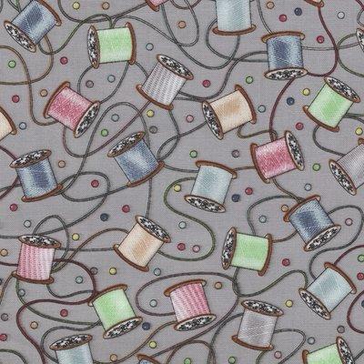 Blank quilting Better Stitch grijs met knoopjes