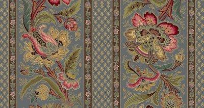 Marcus Fabrics Chatham Row blauwe rand