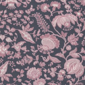 Liberty London The Summer House Collection grijs roze bloem
