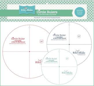 """Lori Holt Circle rulers 8"""",10""""' en 12"""""""