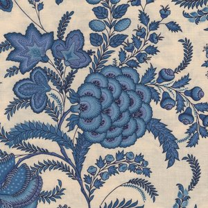 Dutch Heritage Indian Rapsody ecru blauw bloem
