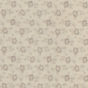 Quilt Gate Gentle Flowers beige met grijs bloemetje