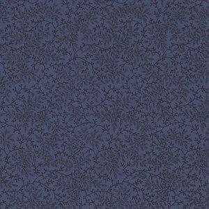 Benartex Wide Goods blauw met donkerblauw takje dubbelbreed