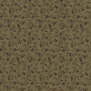 Windham Fabrics Kindred Spirits groen met bruin werkje