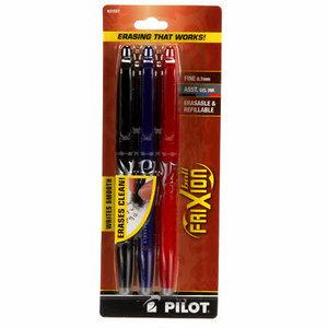 Pilot Frixion pen set blauw/zwart/rood