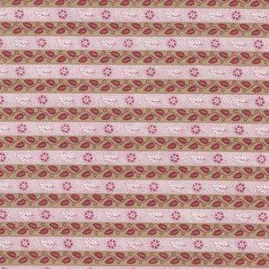 Penny Rose Fabrics Isabella roze met groene streep