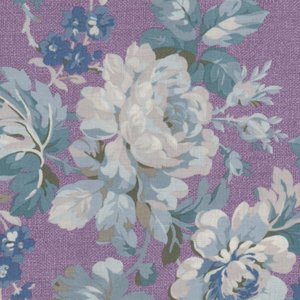 Windham Fabrics Chambray Rose paars grote bloem