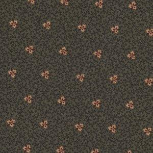 Marcus Fabrics Antique Cotton Calicos groen met ecru bloemetje