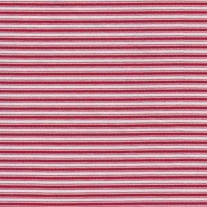 Penny Rose Fabrics Beaujolais rood/ecru streepje
