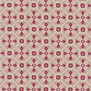 Penny Rose Fabrics Beaujolais taupe met ecru en rood werkje