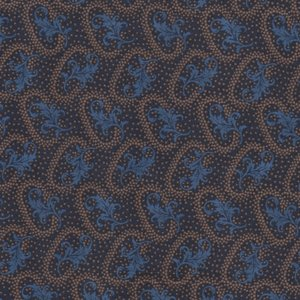 Windham Fabrics Manor House Upstairs blauw ovaal