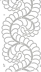 Quilt Stencil Feather Border