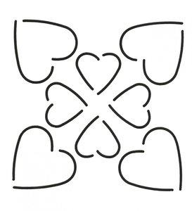 Quilt Stencil Hearts
