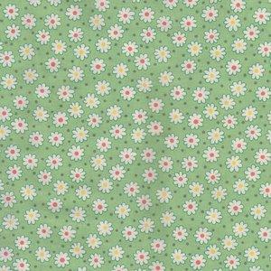 Lecien Retro 30's groen met witte bloemetjes