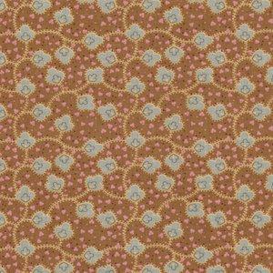Penny Rose Fabrics Houghton Hall groen blauw blaadje