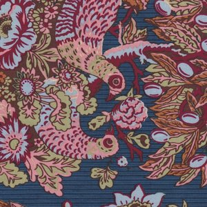 Penny Rose Fabrics Houghton Hall blauw vogel