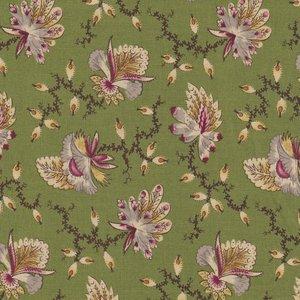 Marcus Fabrics Old Sturbridge Village Anniversary Collection groen veer