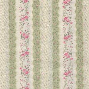 Quilt Gate RURU Bouquet groen roze roos rand