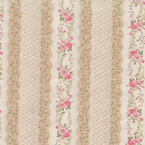 Quilt Gate RURU Bouquetecru roze roos rand