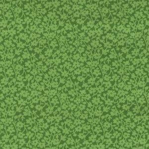 Windham Quilt Back groen met lichter takje dubbelbreed