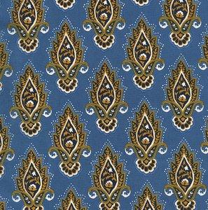 Michael Miller Indian Summer lotusbloem blauw