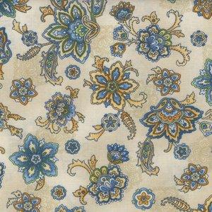 Robert Kaufman La Provence ecru bloem