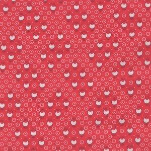 Lecien Retro 30's Child Smile rood met witte cirkels