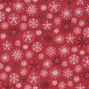 Andover Christmas 2017 Scandi 4 rood ecru sterren