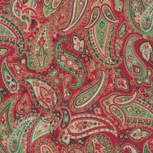 Andover Christmas 2017 Traditional rood paisley goudaccent