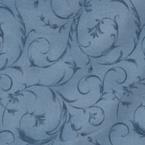 Maywood Studio blauw scroll dubbelbreed