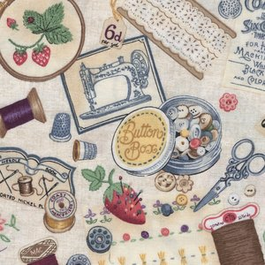 Andover Haberdashery Sewing Notions ecru naaigerei