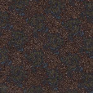 Windham Fabrics Kindred Spirits Sisters bruin met groen/blauw werkje