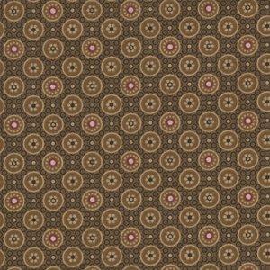 Marcus Fabrics Quilt Backs bruin met bollen