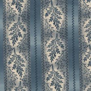 Marcus Fabrics Bathwick blauwe rand
