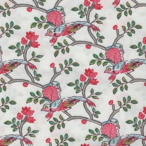 Windham Fabrics Susannah wit vogels