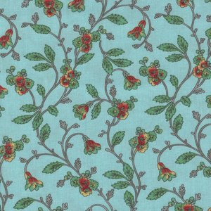 Windham Fabrics Susannah blauw tak