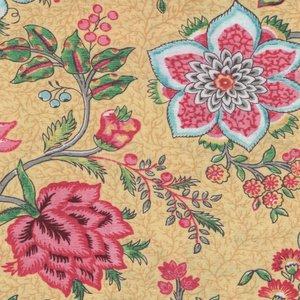 Windham Fabrics Susannah geel grote bloem