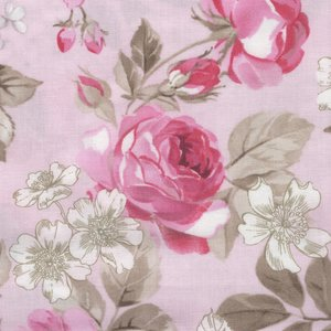 Penny Rose Fabrics English Rose roze grote roos