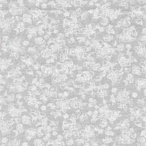 Basic collectie ecru met wit bloemetje