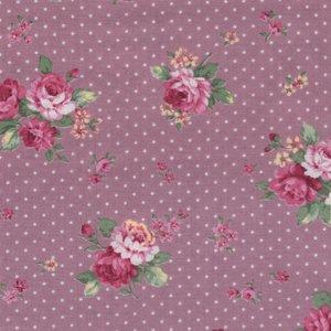 Quilt Gate RURU Bouquet roze roos stip