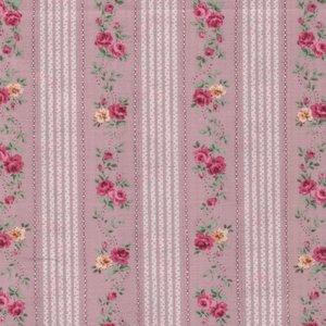 Quilt Gate RURU Bouquet roze roos streep