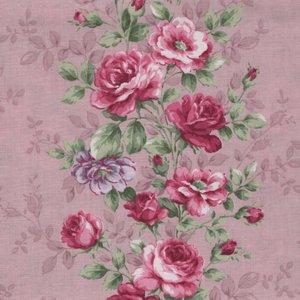 Quilt Gate RURU Bouquet roze roos rand