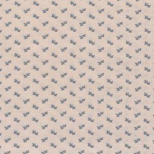 Windham Fabrics Larisa ecru met blauw werkje