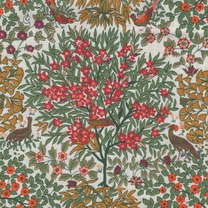 Liberty London The Orchard Garden ecru oranje appelboom